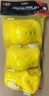 Kinder Knie, Ellenbogen und Handgelenk Schoner Set L Gelb - 1B Ware mit Lagerspuren