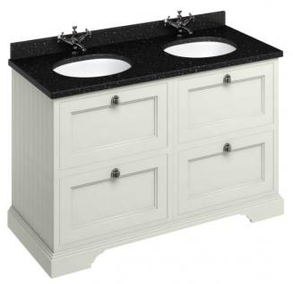 Casa Padrino Doppel Waschschrank mit Granitplatte und 4 Schubladen 130 x 55 x H. 93 cm - Vorschau 2