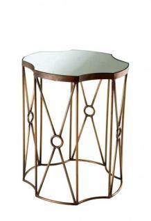 Casa Padrino Luxus Art Deco Designer Beistelltisch 2er Set Antik Messing - Hotel Tisch Möbel - Vorschau 3