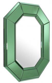 Casa Padrino Luxus Wohnzimmer Wandspiegel Grün 80 x H. 106 cm - Designer Spiegel