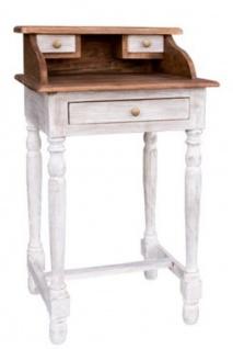 Casa Padrino Landhausstil Shabby Chic Sekretär Braun / Antik Weiß 50 x 40 x H. 86 cm - Landhausstil Möbel