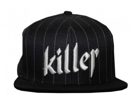 Flat Fitty Skateboard Cap Killer Black/Stripes