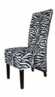 Casa Padrino Limited Edition Designer Chesterfield Esszimmer Stuhl Zebra - Club Möbel