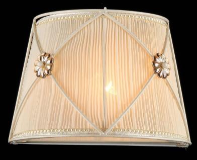 Casa Padrino Barock Wandleuchte Weiß Gold 28 x H 19 cm Antik Stil - Wandlampe Wand Beleuchtung