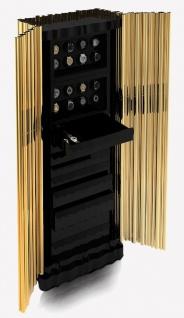 CPBlack Luxus Safe by Casa Padrino Gold / Schwarz - Uhrensafe - Schmucksafe - Moderner Hochwertiger Tresor