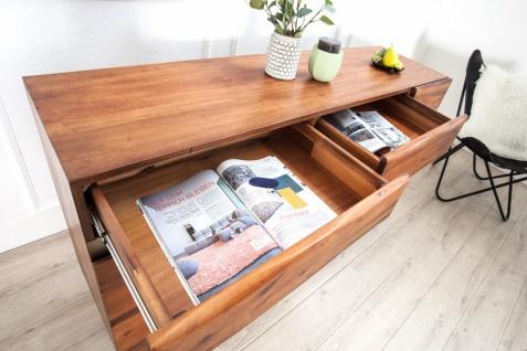 Casa Padrino Luxus Sideboard Braun B.170 x H.90 x T.45 - Fernsehschrank - Kommode - Handgefertigt aus massivem Akazienholz! - Vorschau 5