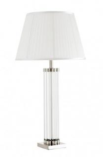 Casa Padrino Luxus Tischleuchte Nickel Durchmesser 16 x 46 x H 83 cm - Luxus Leuchte