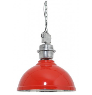 Casa Padrino Designer Hängeleuchte Rot Durchmesser 52 cm - Limited Edition