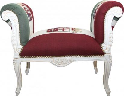 Casa Padrino Barock Schemel Hocker Union Italien / Creme - Sitzbank