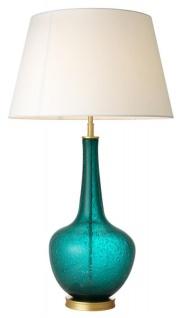 Casa Padrino Luxus Designer Tischleuchte Türkis 26 x 52, 5 x H. 91 cm - Limited Edition