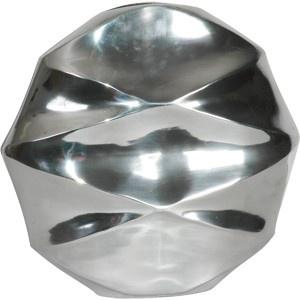 Casa Padrino Designer Vase aus poliertem Aluminium silber 33 x 33 x 11 cm - Shine Deko Gefäß - Blumenvase