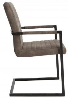 Casa Padrino Designer Freischwinger Stuhl Taupe Grau - Esszimmerstuhl - moderner Wohnzimmerstuhl - Vorschau 3