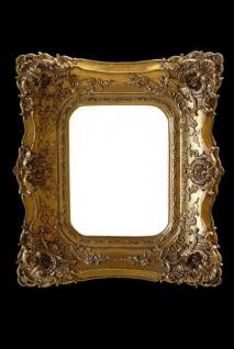 Feudaler Barock Spiegel mit Doppelrahmen 71 x 62 cm