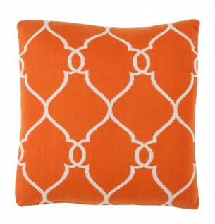 Casa Padrino Luxus Kissen 2er Set Orange 50 x H. 50 cm - Designer Accessoires