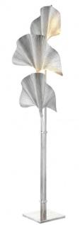 Casa Padrino Stehleuchte Silber 80 x H. 197 cm - Luxus Stehlampe