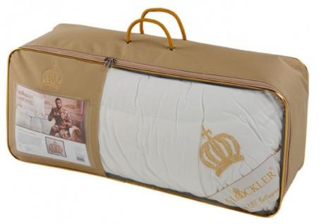 Harald Glööckler Designer Kopfkissen 80 x 80 cm Weiß / Gold + Casa Padrino Luxus Barock Bleistift mit Kronendesign - Vorschau 3