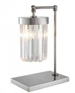 Casa Padrino Luxus Tischleuchte Nickel - Luxus Leuchte