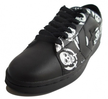 Converse Skateboard Schuhe Pro Leather VR Ox Black / White Skulls Sneaker Sneakers Shoes 2