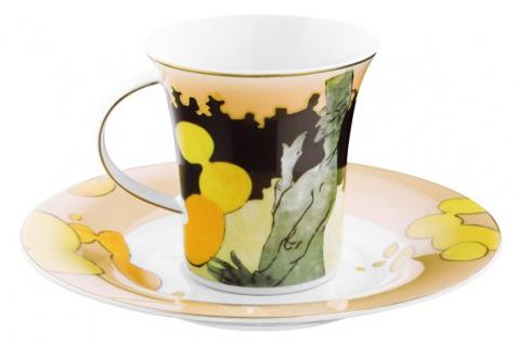 """Handgearbeitete Kaffeetasse aus Porzellan mit einem Motiv von T. Lautrec """" Moulin Rouge"""" 0, 21 Ltr. - feinste Qualität aus der Tettau Porzellanfabrik - wunderschöne Tasse - Vorschau 2"""
