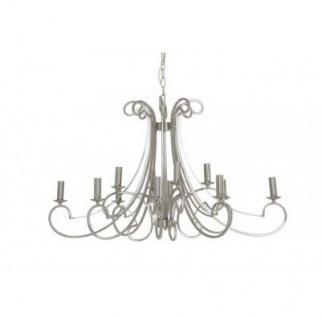 Casa Padrino Barock Decken Kronleuchter Silber Durchmesser 112 x H 65 cm Antik Stil - Möbel Lüster Leuchter Deckenleuchte Hängelampe