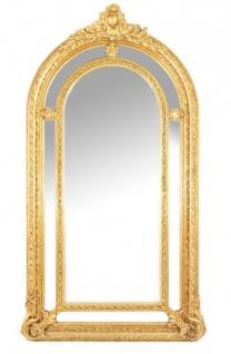 Riesiger Casa Padrino Luxus Barock Wandspiegel Gold Versailles 210 x 115 cm - Massiv und Schwer - Goldener Spiegel
