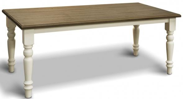 Casa Padrino Landhausstil Esstisch - Verschiedene Farben & Größen - Massivholz Küchentisch - Esszimmer Möbel im Landhausstil