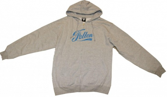 Fallen Skateboard Pullover Hoodie Zip Grey/Blue Sweater