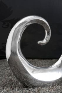 Designer Vase aus poliertem Aluminium silber Höhe: 106 cm, Breite: 49 cm - Moderne Vase, Deko Vase - Vorschau 2