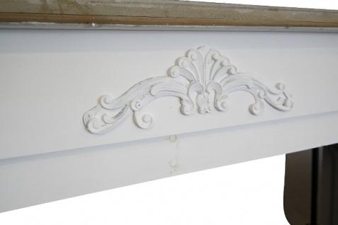 Casa Padrino Landhausstil Kaminumrandung Antik Weiß / Naturfarben 110 x 23 x H. 100 cm - Shabby Chic Möbel - Vorschau 3