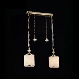 Casa Padrino Jugendstil Decken Hängelampe Antik Bronze 43 x H 25 cm Antik Stil - Möbel Lüster Leuchter Deckenleuchte Hängelampe