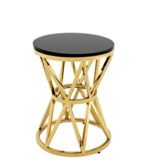 Casa Padrino Luxus Art Deco Designer Beistelltisch Gold 29 x H. 39 cm - Luxus Kollektion