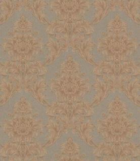 Casa Padrino Barock Textiltapete Braun / Taupe 10, 05 x 0, 53 m - Tapete im Barockstil