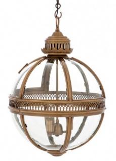 Casa Padrino Barock Hängeleuchte Antik Messing Design Kugel Durchmesser 43 cm, Höhe 63 cm - Barock Schloss Lampe Leuchte Laterne