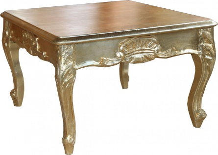 Casa Padrino Barock Beistelltisch Gold 60 x 60 cm - Couch Tisch - Wohnzimmer Tisch - Couchtisch - Limited Edition