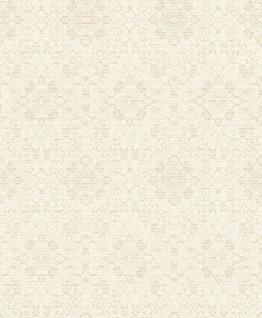 Casa Padrino Barock Tapete Creme / Beige 10, 05 x 0, 53 m - Textiltapete im Barockstil