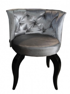 Casa Padrino Barock Salon Stuhl Grau - Designer Sessel - Luxus Qualität - Vorschau 2