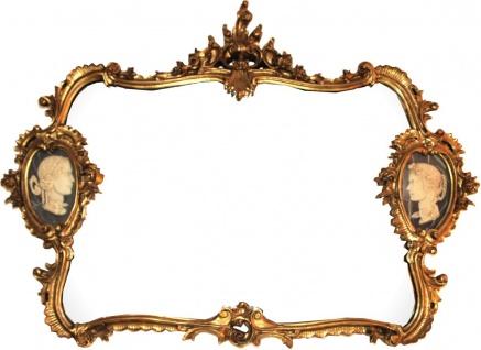 Casa Padrino Luxus Barock Wandspiegel Gold 130 x 105 cm - Prunkvoller Spiegel im Barockstil - Barock Möbel Rokoko