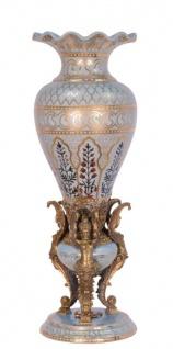 Casa Padrino Porzellan Vase Durchmesser 19, 8 x H. 57, 2 cm - Hotel Restaurant Möbel