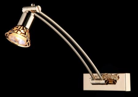 Casa Padrino Jugendstil Wandleuchte Gold 16 x H 34 cm Jugendlicher Stil - Wandlampe Wand Beleuchtung