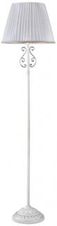 Casa Padrino Barock Stehleuchte Weiß / Silber Ø 40 x H. 160 cm - Stehlampe im Barockstil