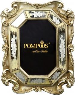Pompöös by Casa Padrino Barock Bilderrahmen Antik Stil Silber von Harald Glööckler 27 x 18 cm - Foto Rahmen