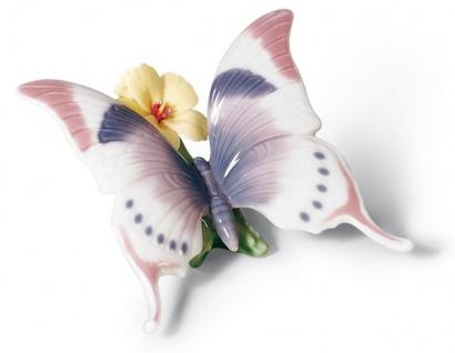 Casa Padrino Luxus Porzellan Schmetterlingsfigur / Skulptur Mehrfarbig 11 x H. 6 cm - Luxus Qualität