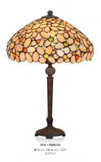 Handgefertigte Tiffany Hockerleuchte Tischleuchte Höhe 48 cm, Durchmesser 30 cm - Leuchte Lampe - Vorschau