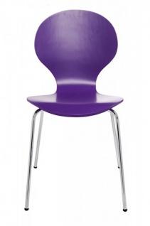 Casa Padrino Designer Stuhl Form Lila 8578 - Esszimmer Stuhl