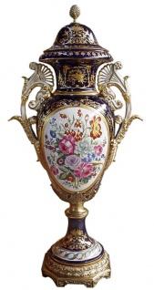 Casa Padrino Luxus Barock Porzellan Vase mit Deckel H. 126 cm - Limited Edition - Vorschau 2