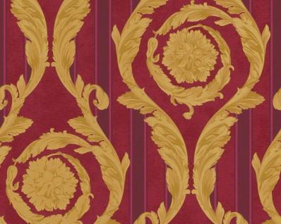 Versace Designer Barock Tapete Home Collection 935683 Jugendstil Vliestapete Vlies Tapete Rot Gold