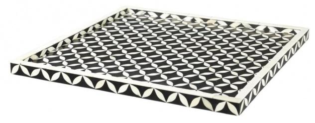Casa Padrino Designer Tablett 50 x 50 cm - Luxus Serviertablett