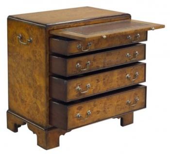Casa Padrino Luxus Jugendstil Kommode mit 4 Schubladen Braun 62 x 39 x H. 70 cm - Luxus Qualität - Vorschau 2