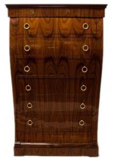 Casa Padrino Art Deco Kommode mit 6 Schubladen Braun 95 x 45 x H. 155 cm - Mahagoni Schubladenschrank - Wohnzimmerschrank - Art Deco Möbel - Vorschau 2