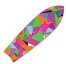 """Skatera by Jet Stardust PaperCut Cruiser Deck 8.5 x 29.5"""" Longboard Deck Skateboard"""